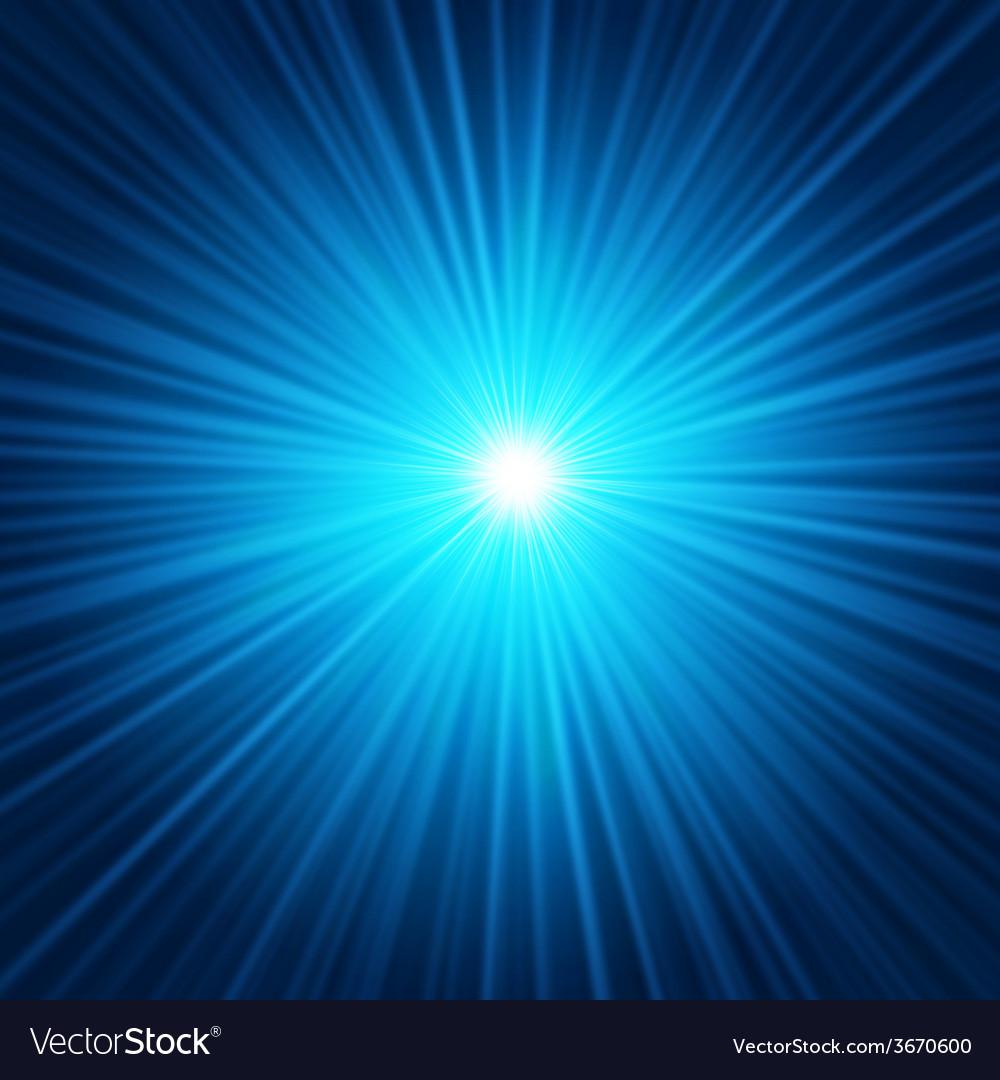 Blue starburst vector image