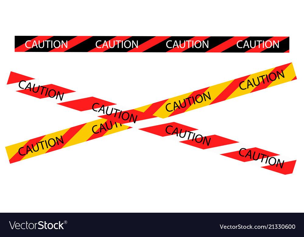 Caution warning tape border