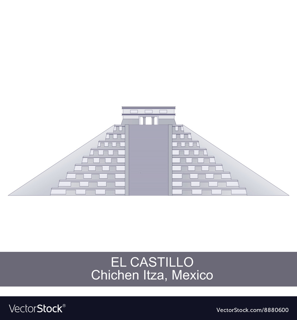 Color of El Castillo vector image