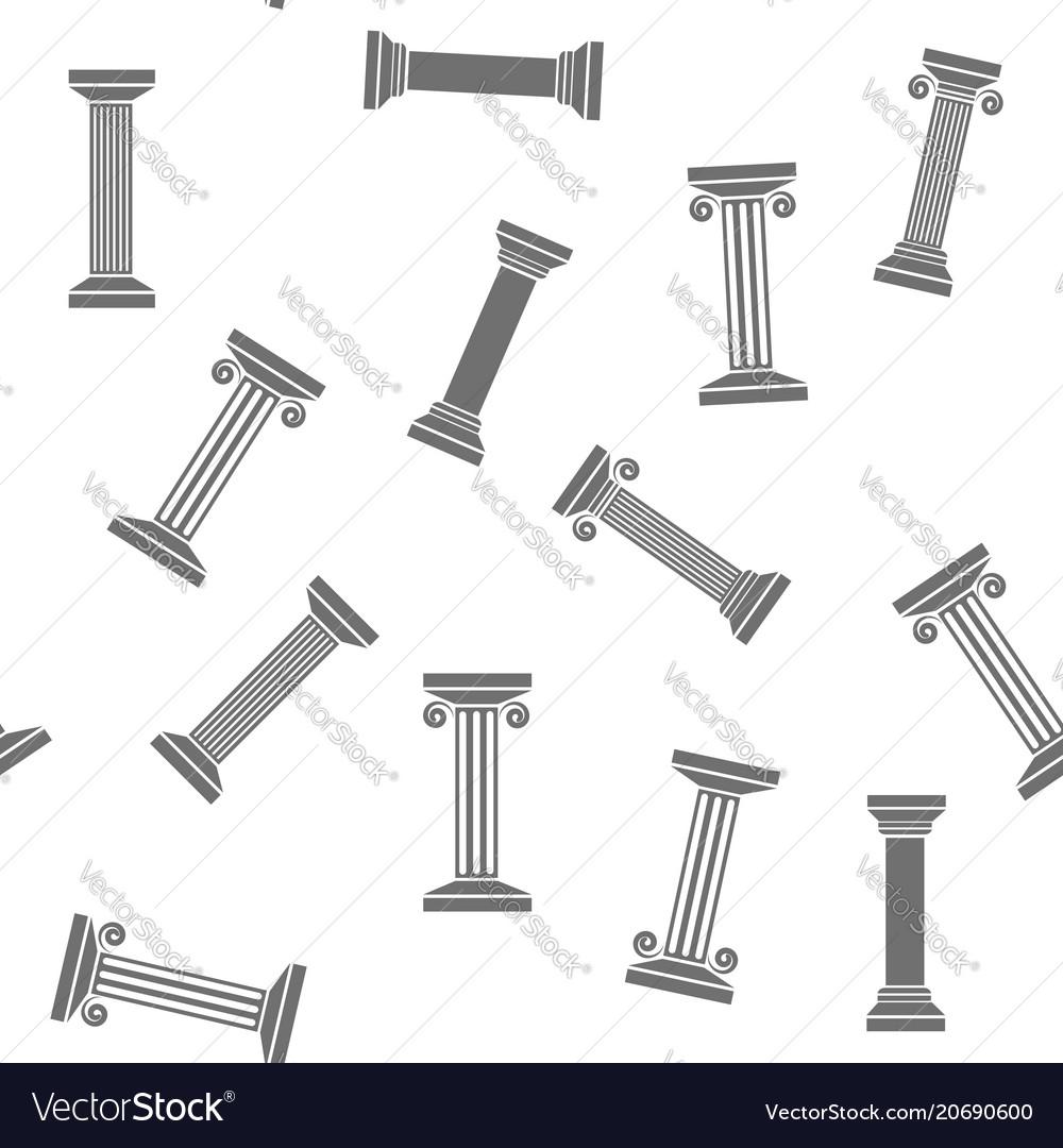 Greek column seamless pattern