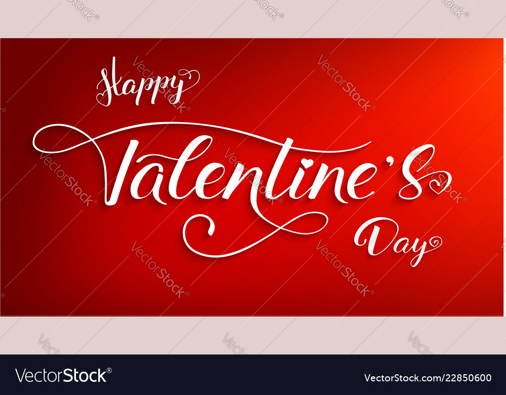 Happy valentines day poster with design of
