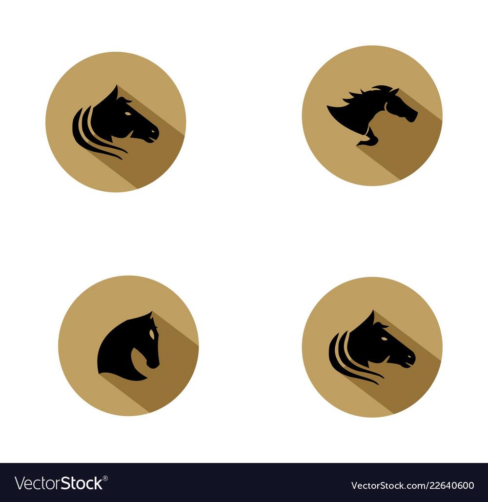 Horse Logo Design Inspiration Royalty Free Vector Image
