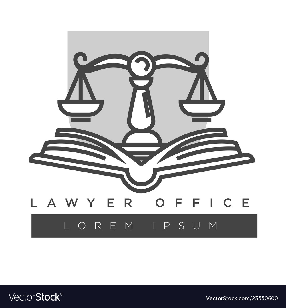 Lawyer company logo template isolated icon