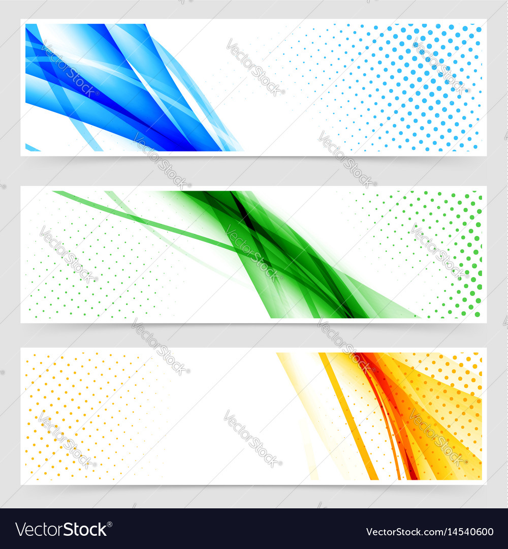 Modern colorful futuristic hi-tech header set