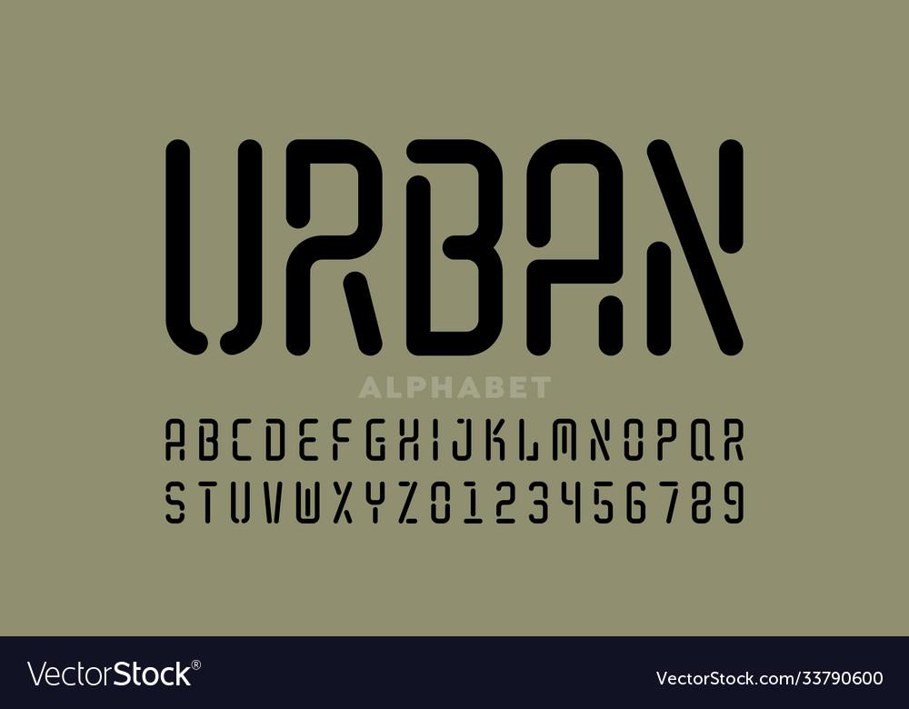 Stencil style font