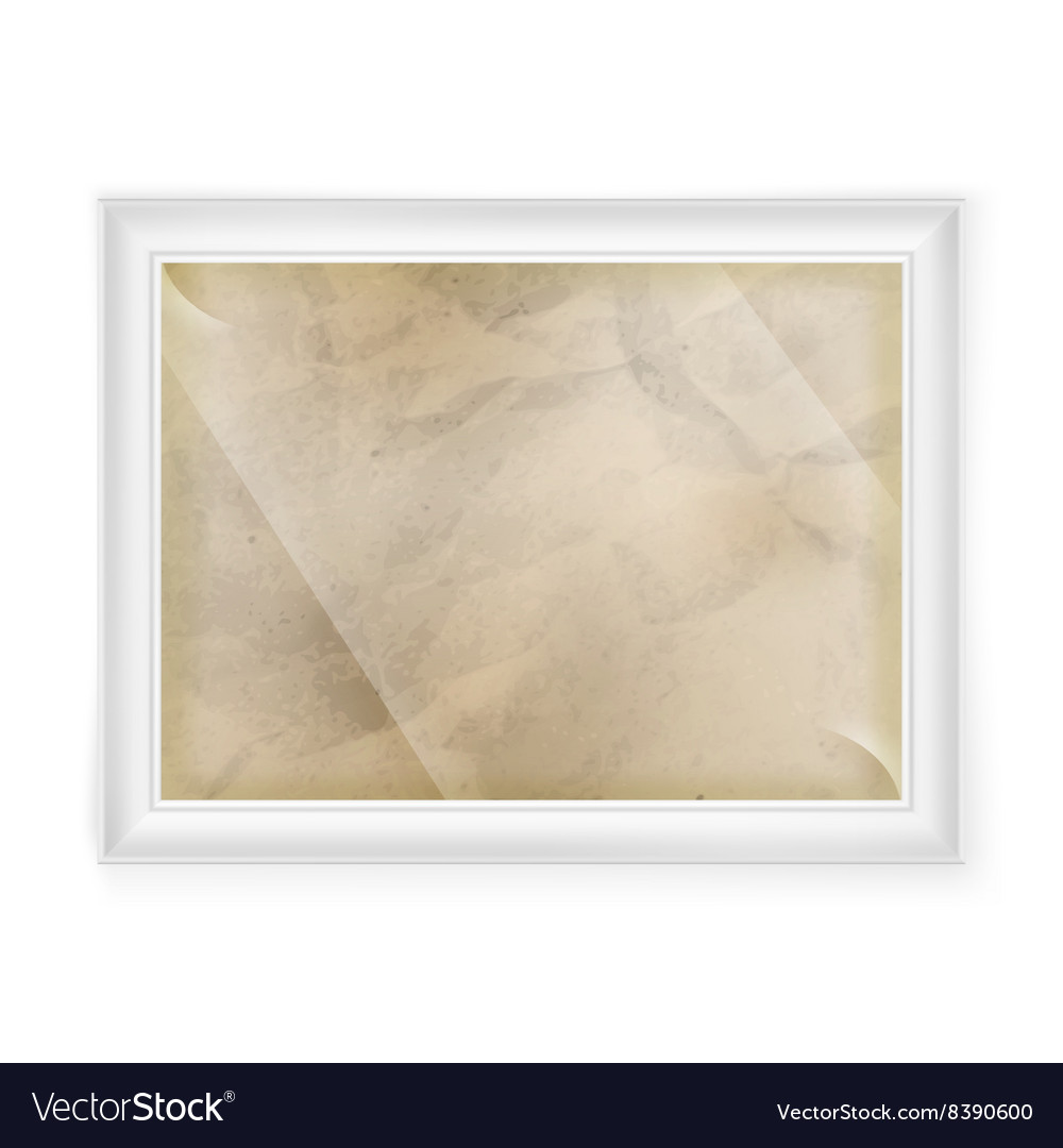 White frame with Old paper EPS 10 Royalty Free Vector Image
