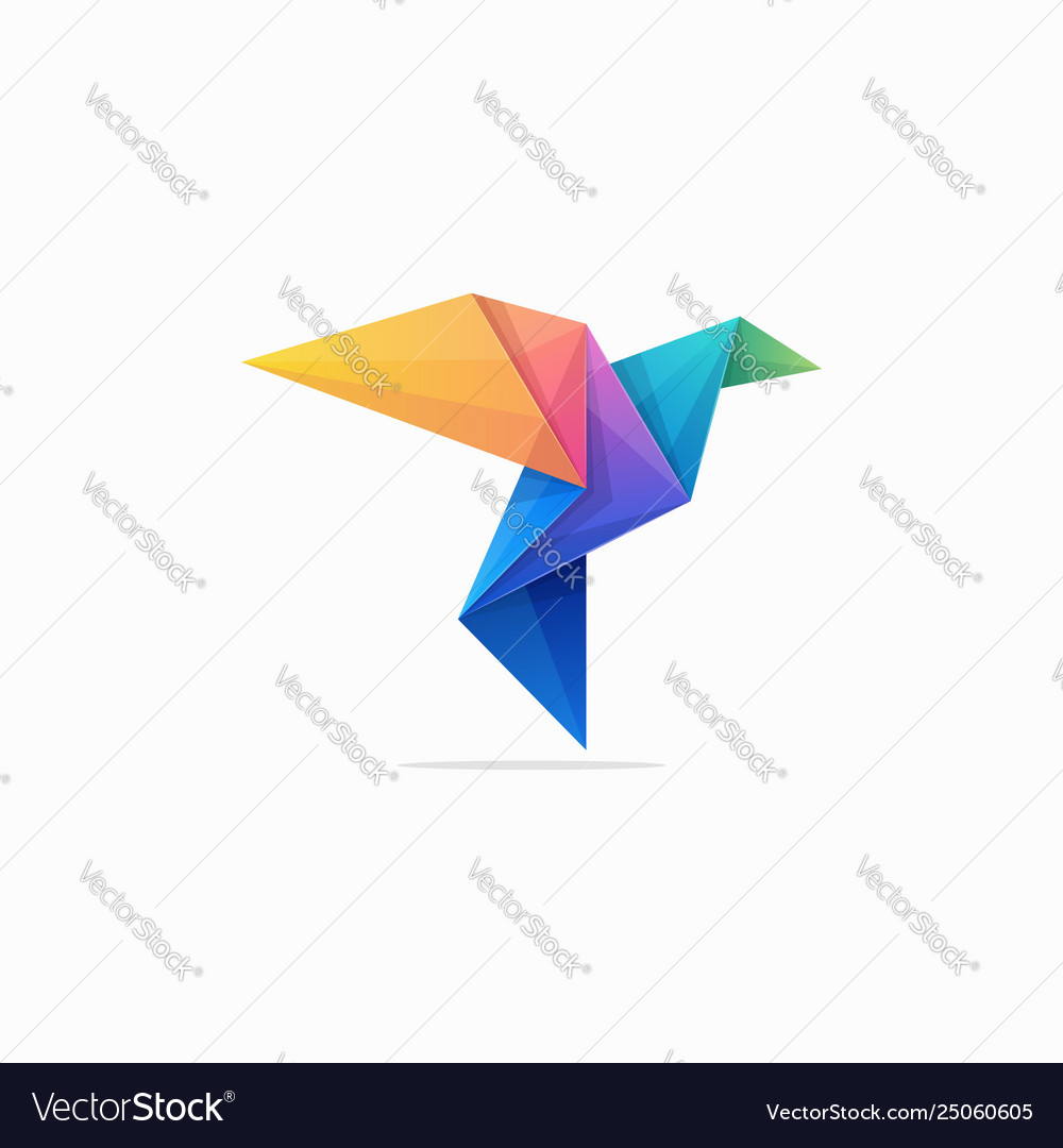 Abstract paper pigeon concept design
