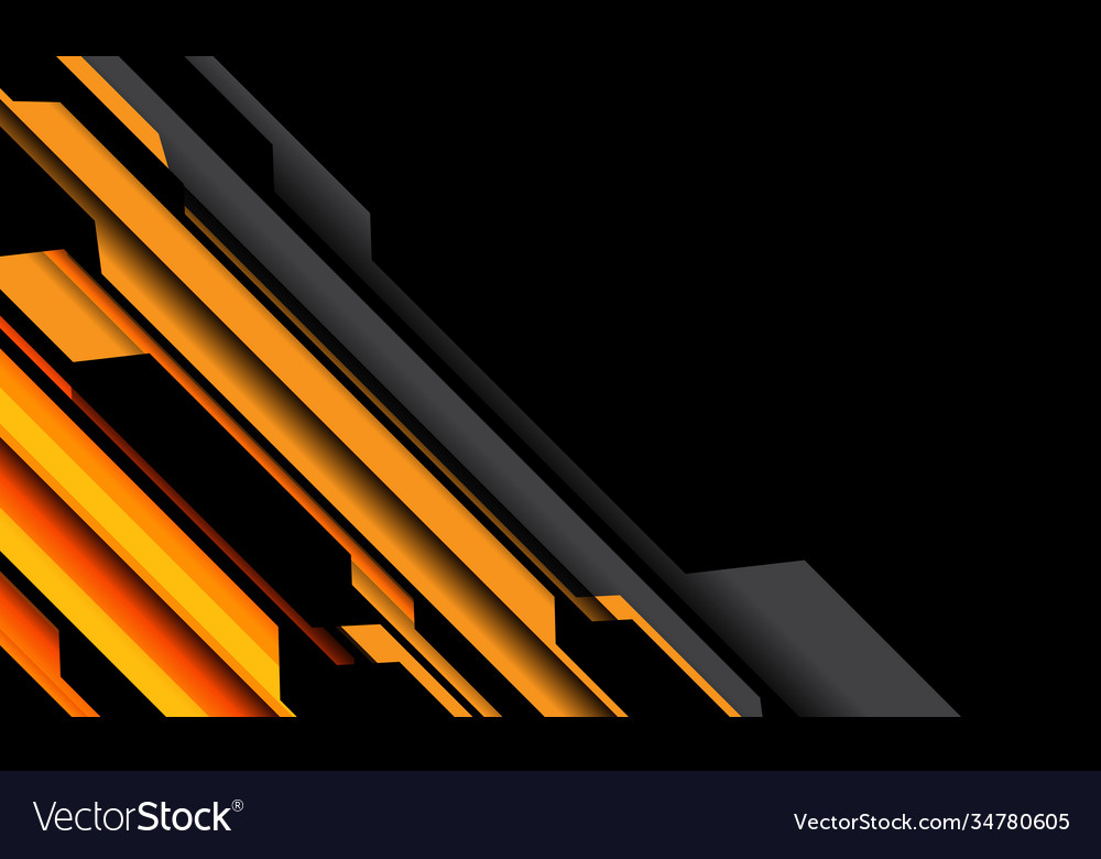 Abstract yellow orange grey cyber circuit no black