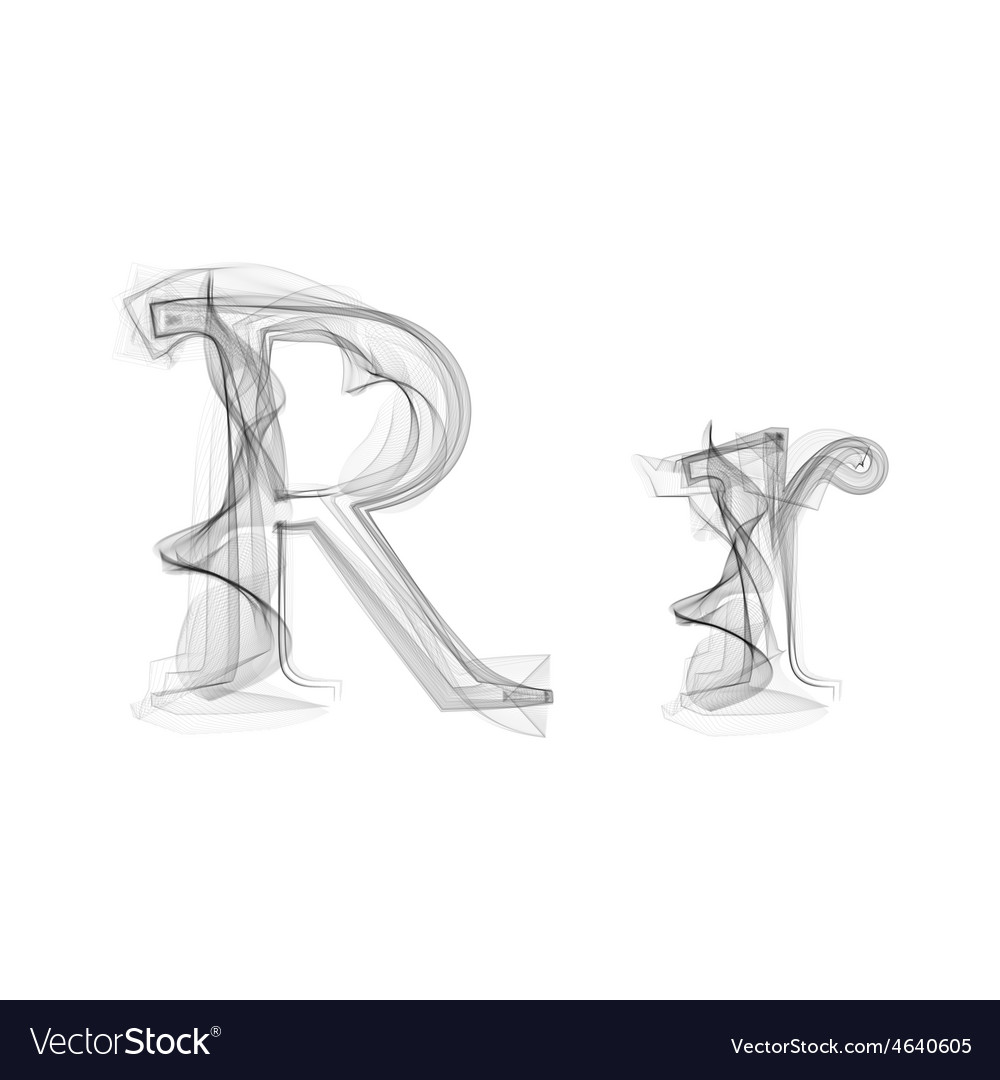 Black Smoke font Letter R