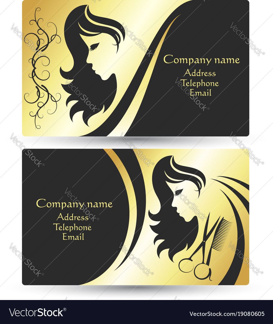 Business card for beauty salon Royalty Free Vector Image