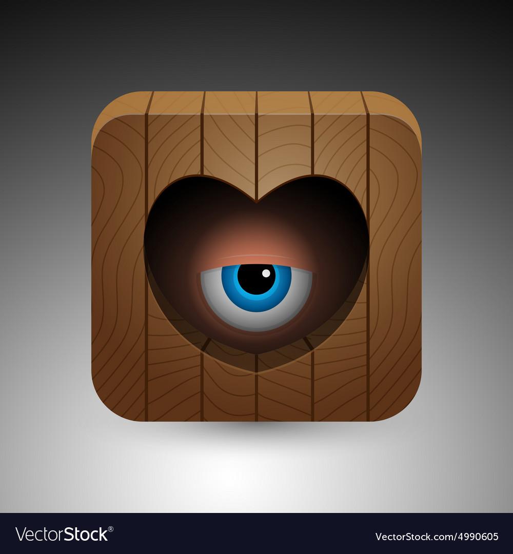 Cartoon eye icon