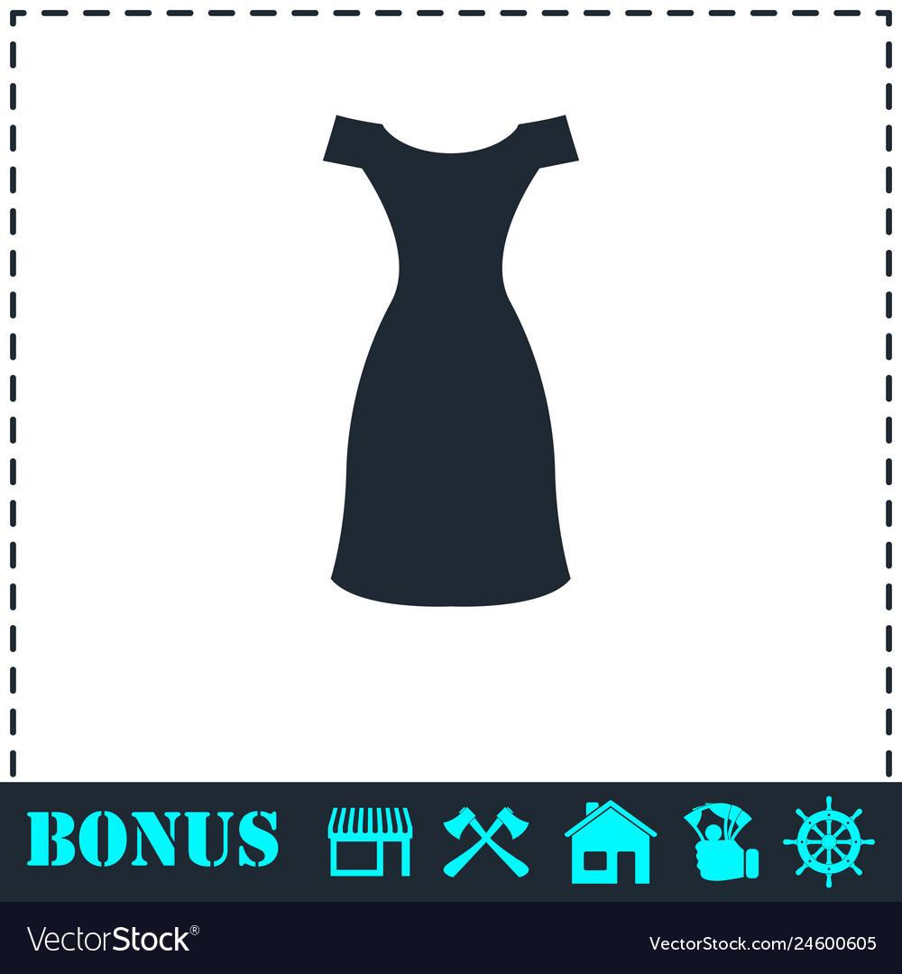 Dress icon flat