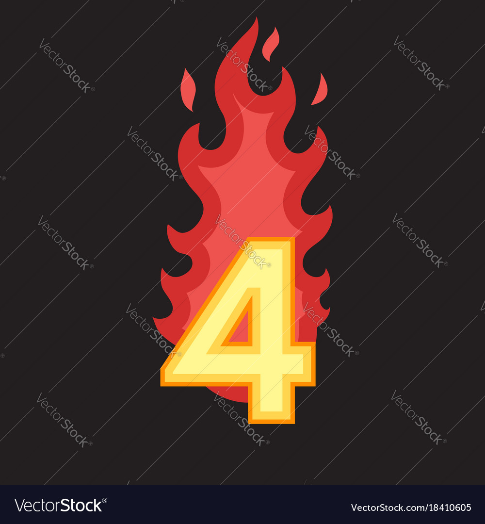 Flaming number four
