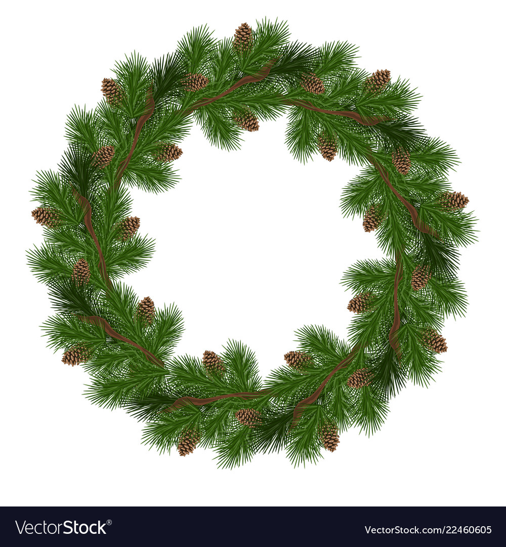 Christmas Wreath Vector.Holiday Christmas Wreath