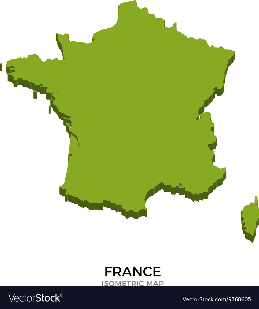 Map Of France Detailed.Isometric Map Of France Detailed