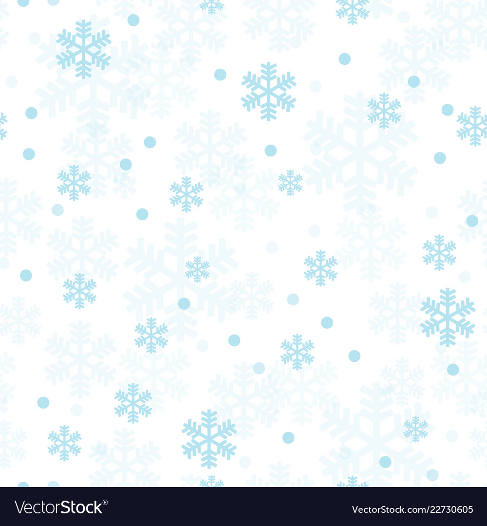 pastel blue christmas snowflakes seamless pattern vector 22730605