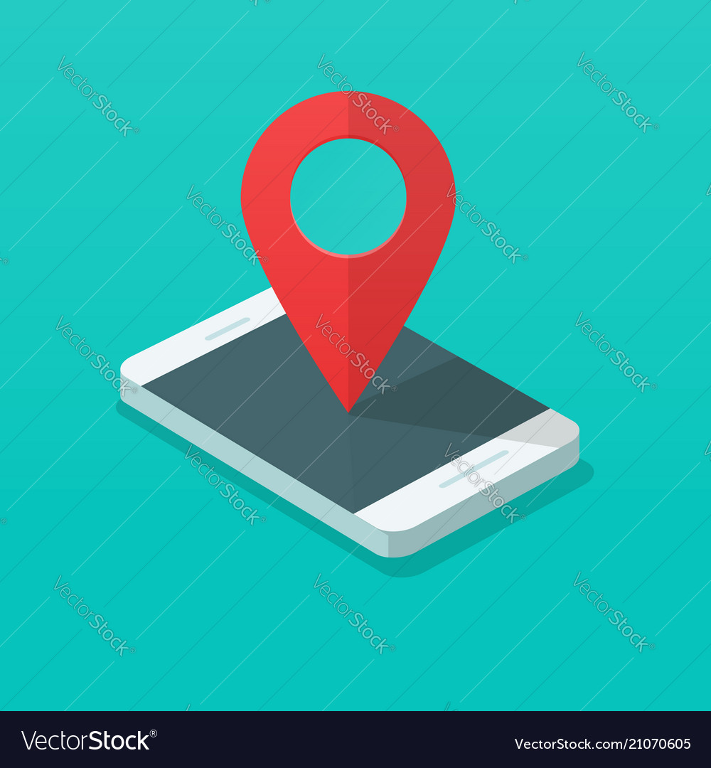Smartphone with map pin pointer