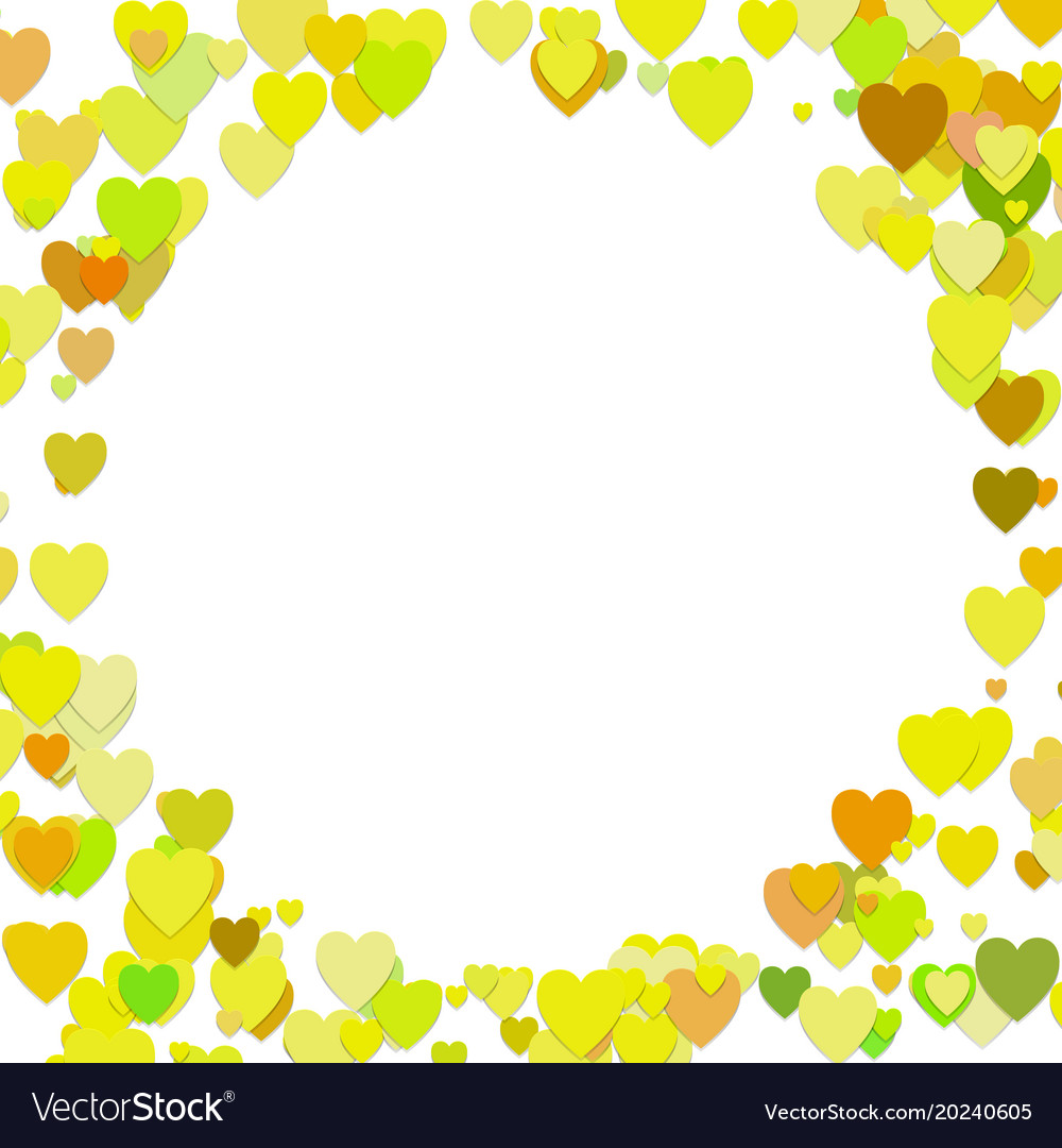 Trendy random heart background template design vector image