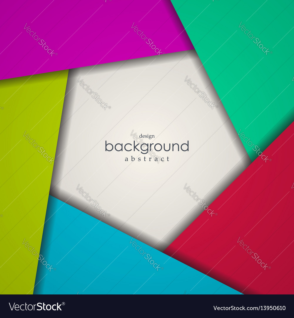 Abstract background of colorful pentagon