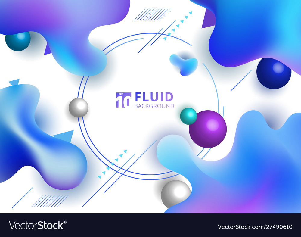 Abstract fluid blue gradient color irregular
