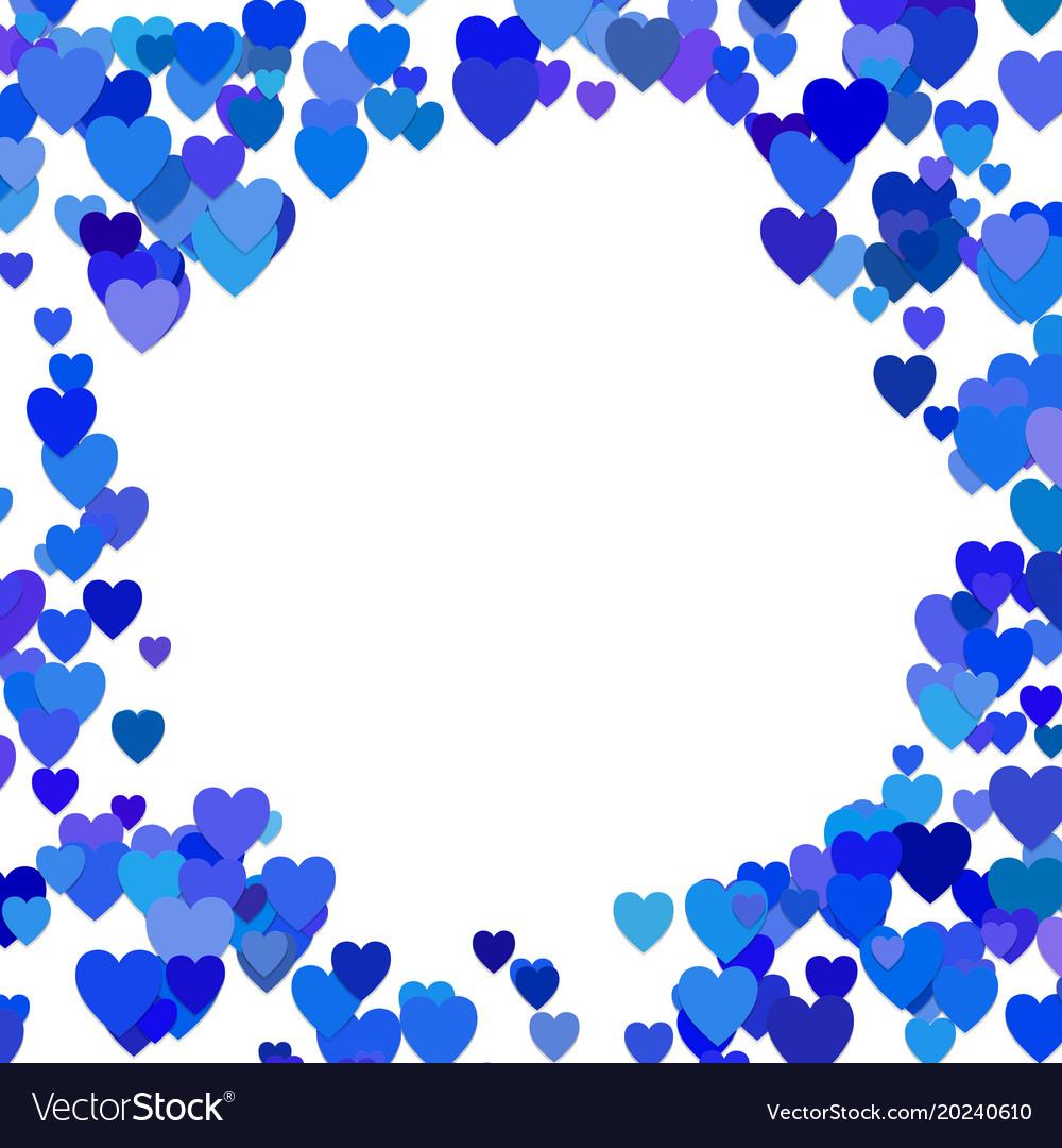 Blue random heart background design - love graphic vector image
