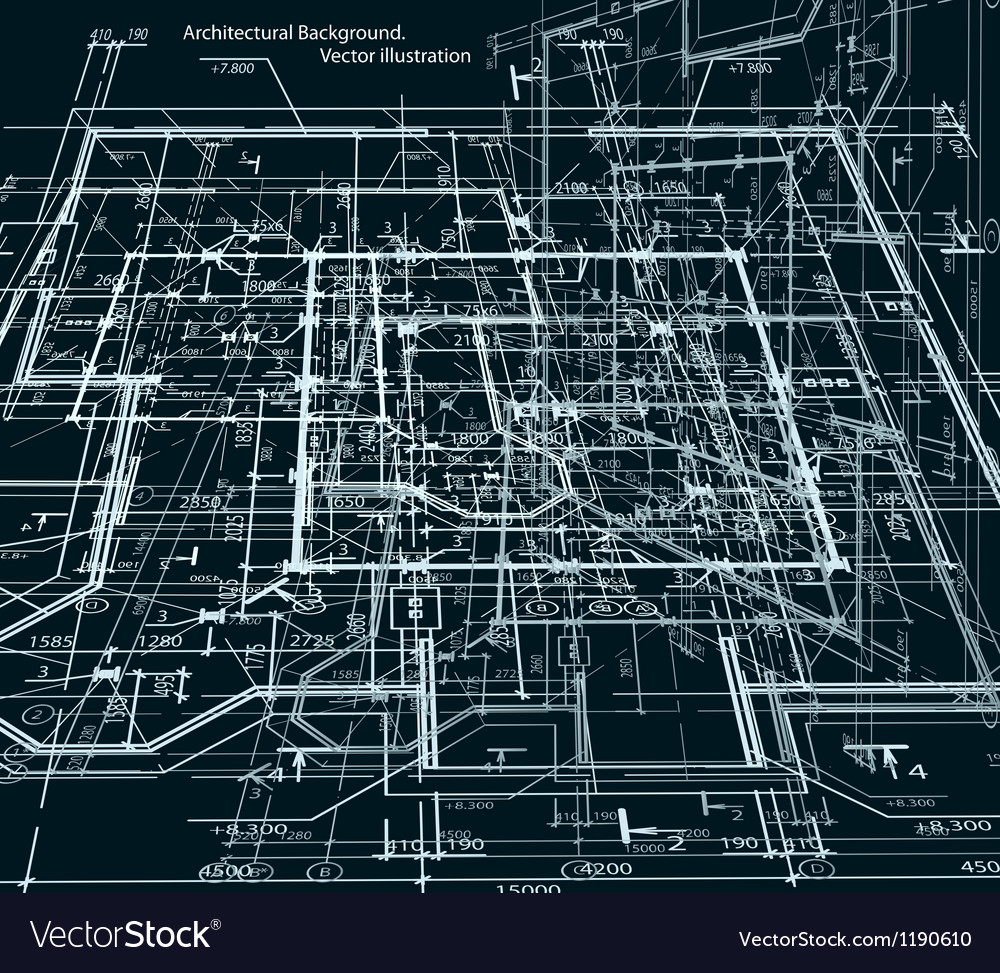 Blueprint abstract dark background royalty free vector image blueprint abstract dark background vector image malvernweather Choice Image