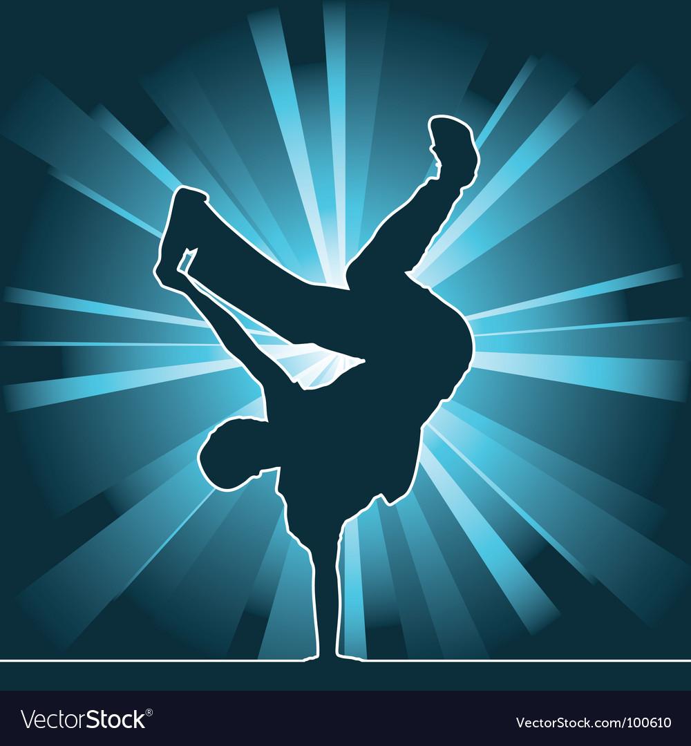 Breakdance silhouette vector image