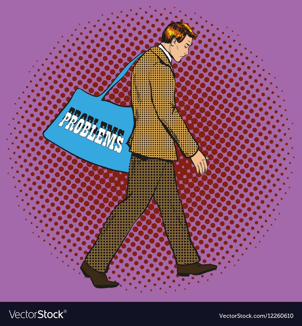 Businessman having problems vector image