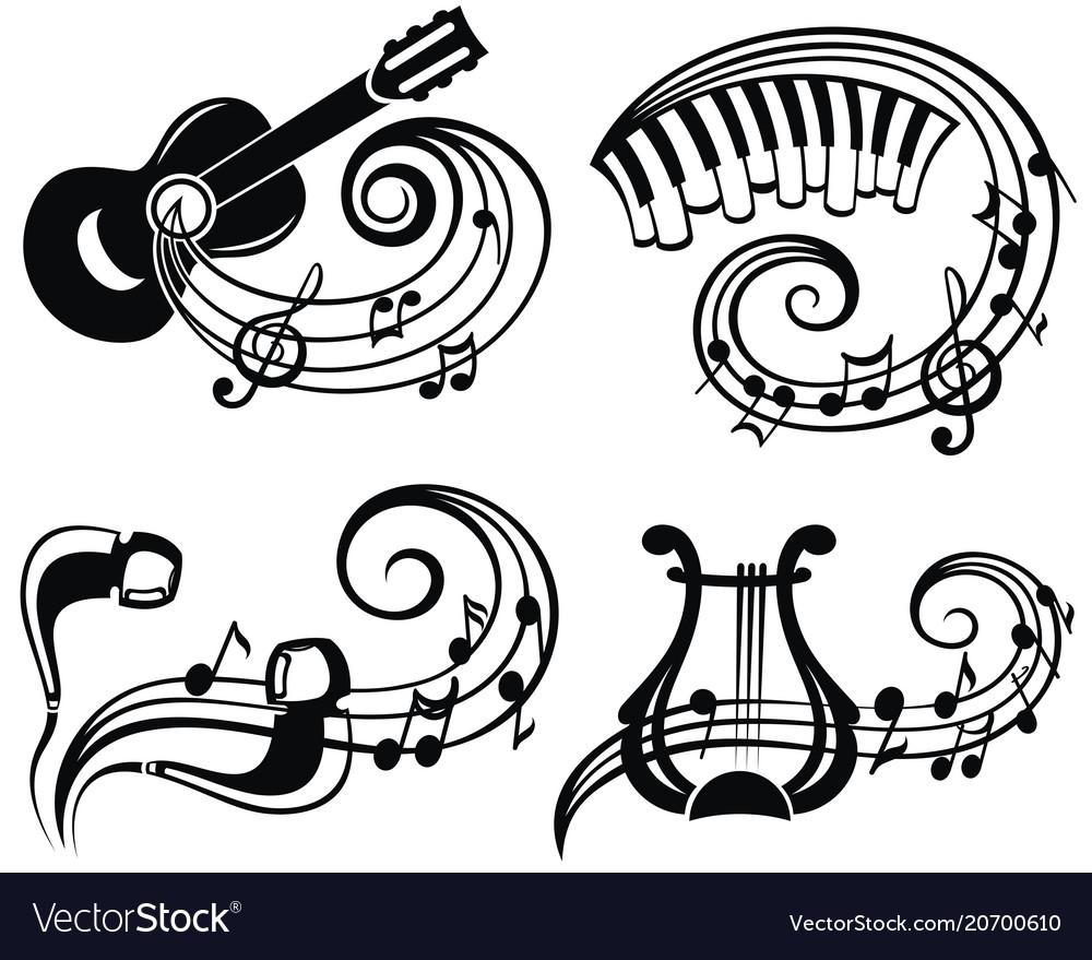 Music symbol vector image