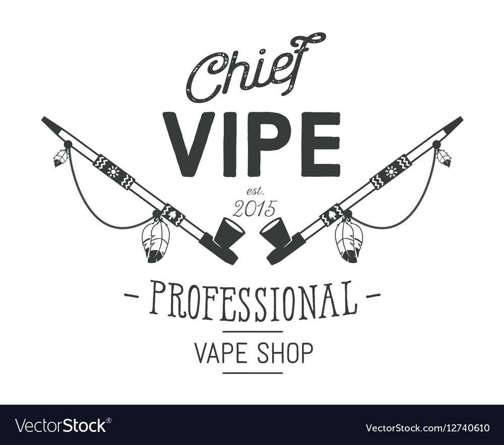 Vintage style Vape Shop emblem or logo