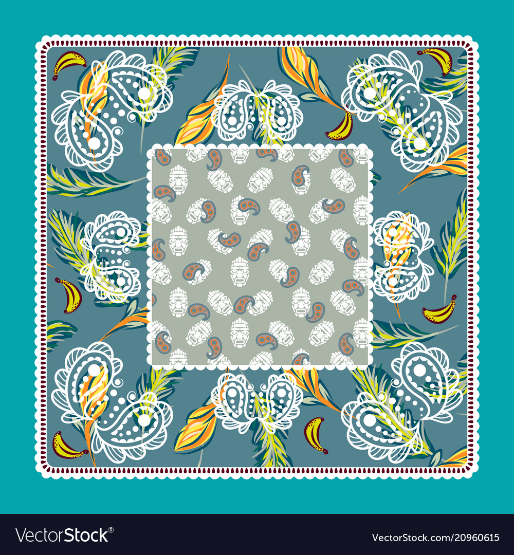 Bandana tropical paisley design