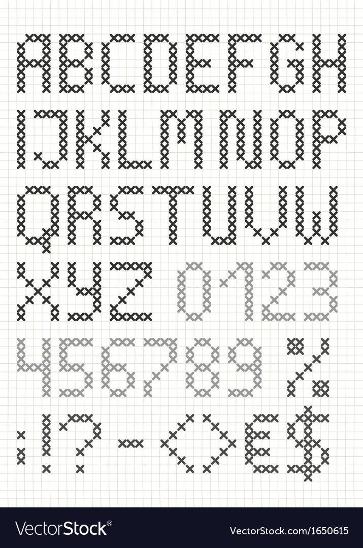 Cross stitch english alphabet