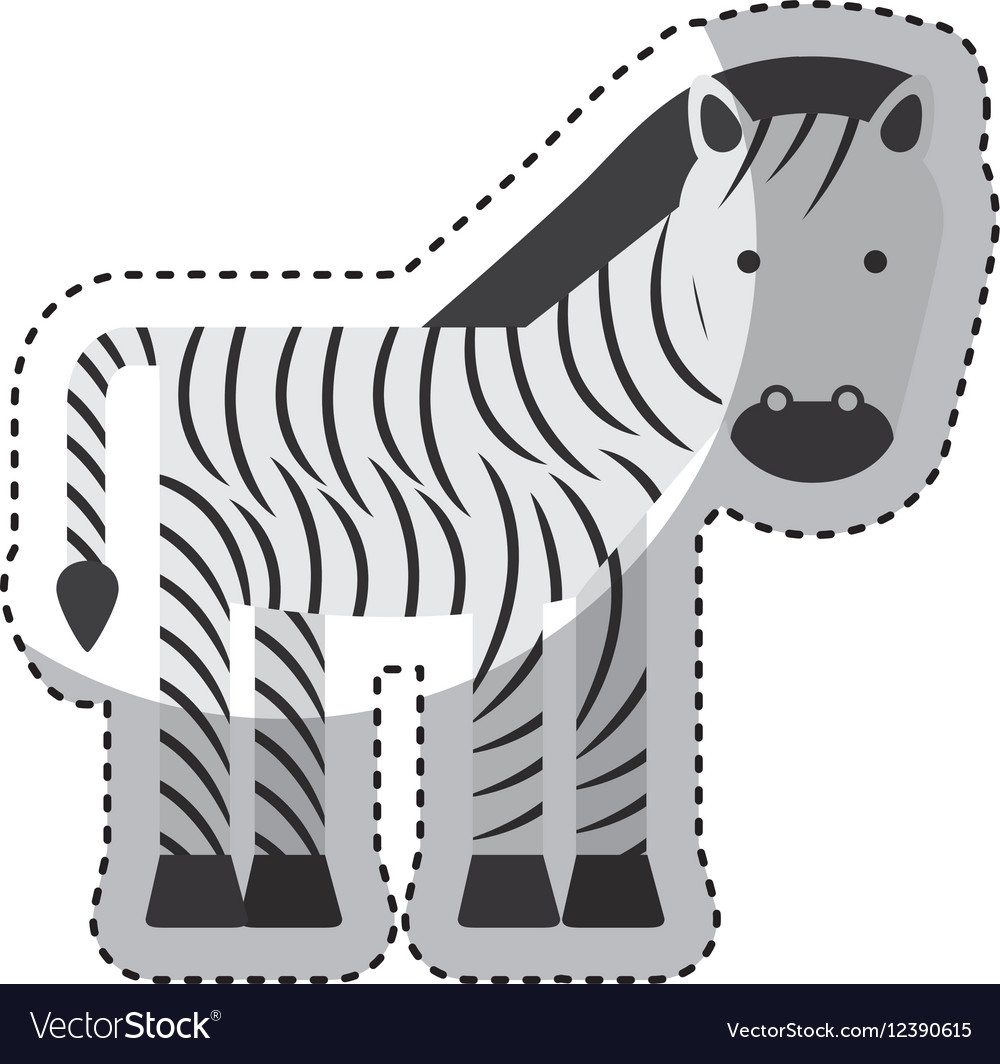 Cute zebra character icon