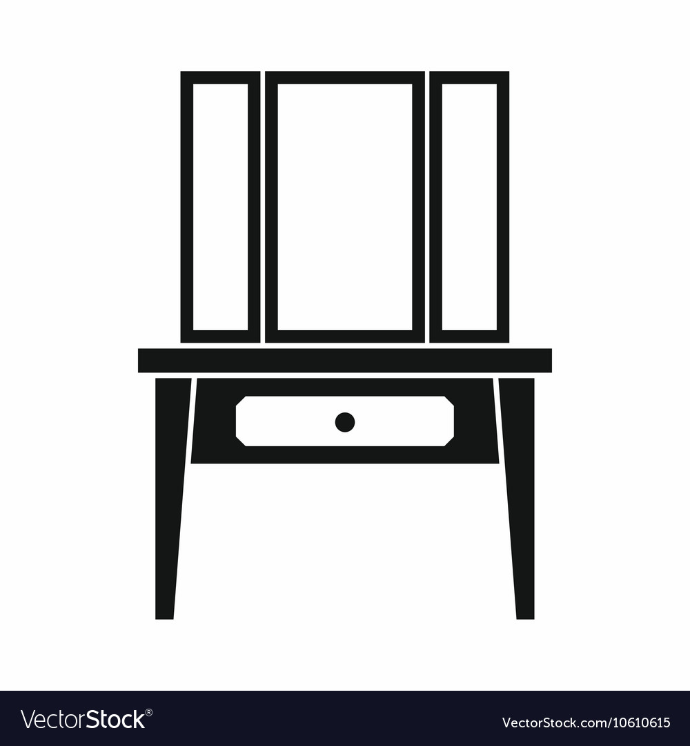 Dressing console pier-glass icon simple style