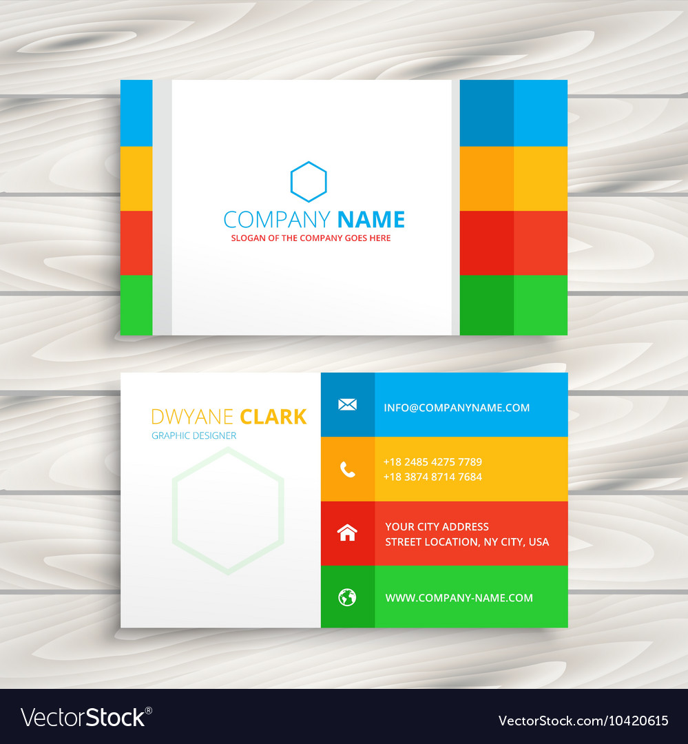 Modern Corporate Business Card Royalty Free Vector Image