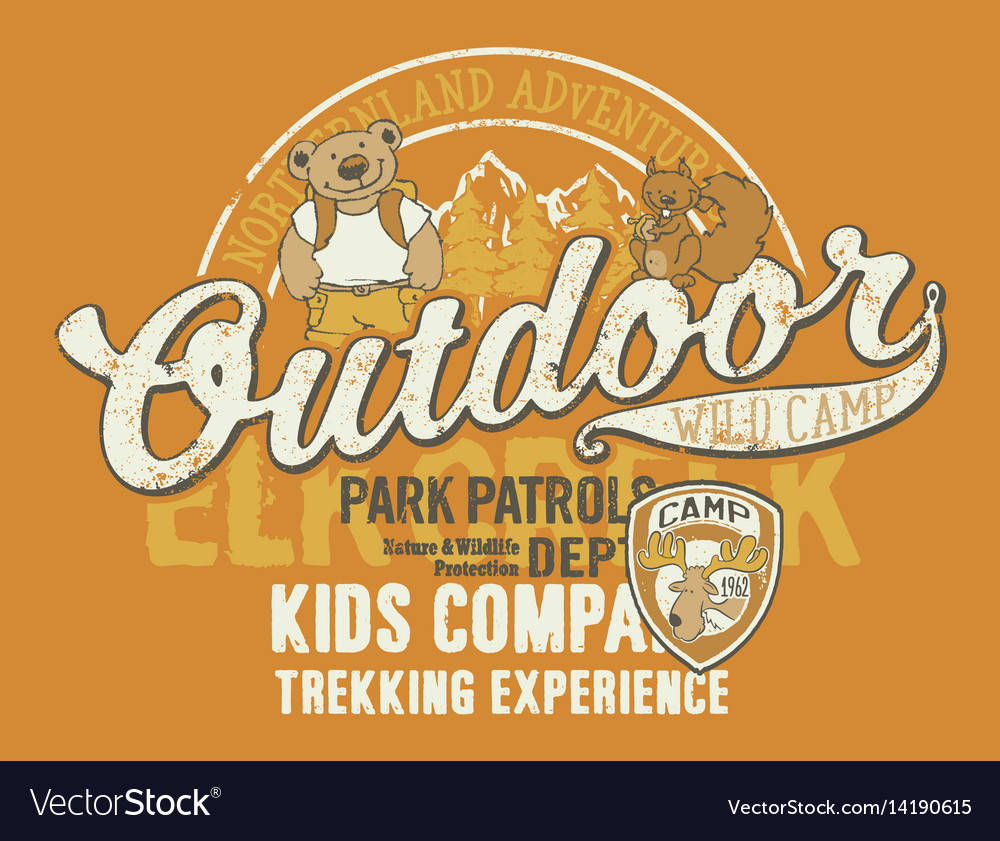 Outdoor wild camp vector image
