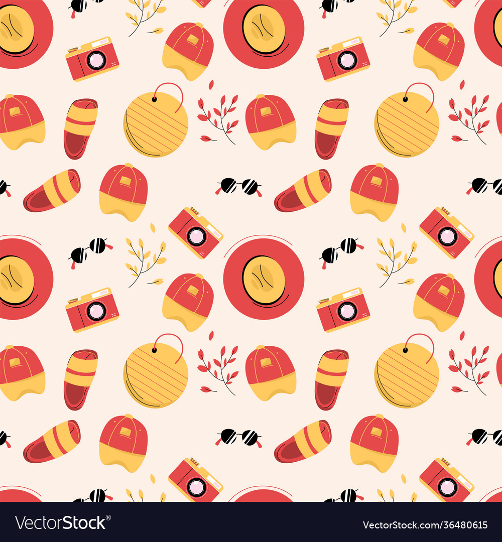 Seamless pattern with clothes and shoes for