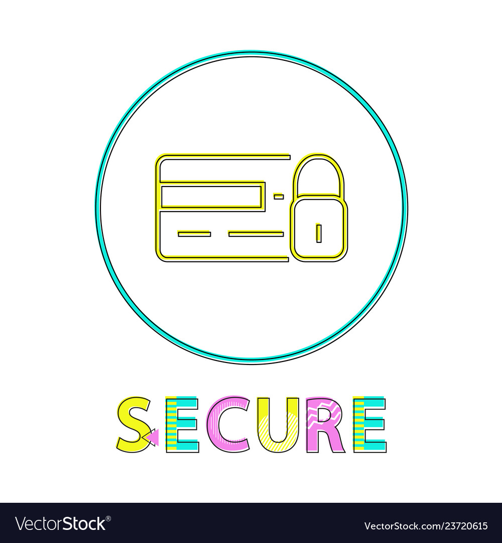 Secure online shopping service round linear button