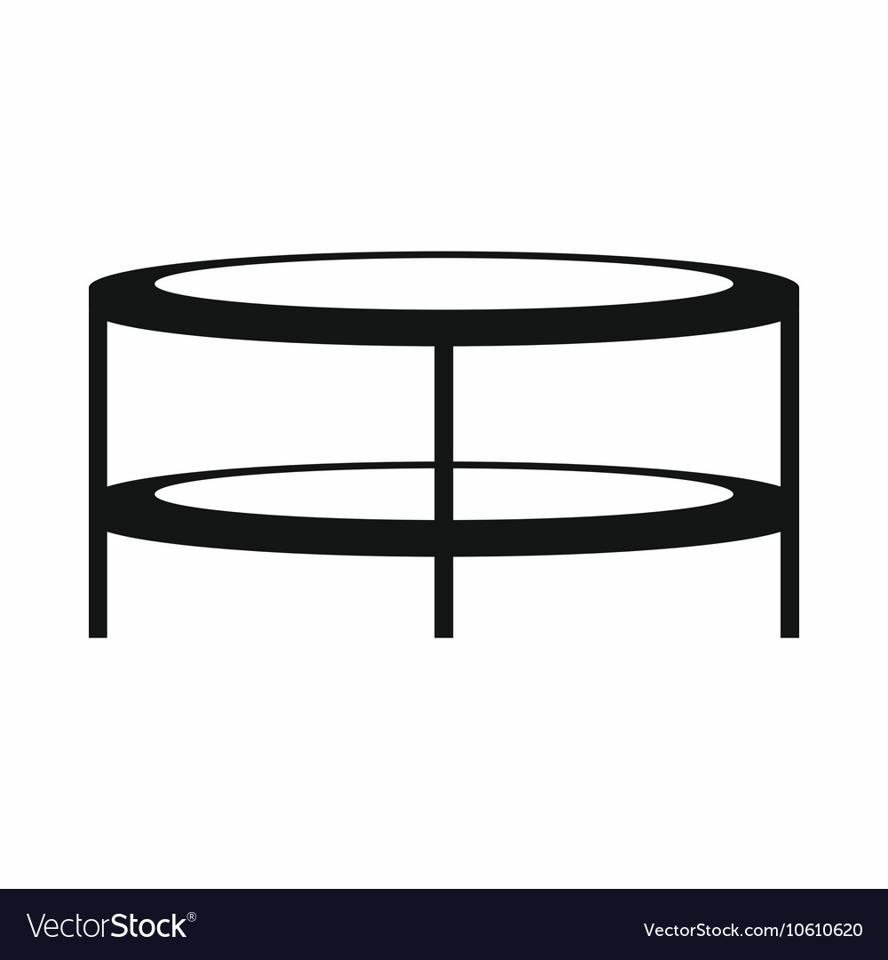 Fantastic A Round Coffee Table Icon Simple Style Pabps2019 Chair Design Images Pabps2019Com