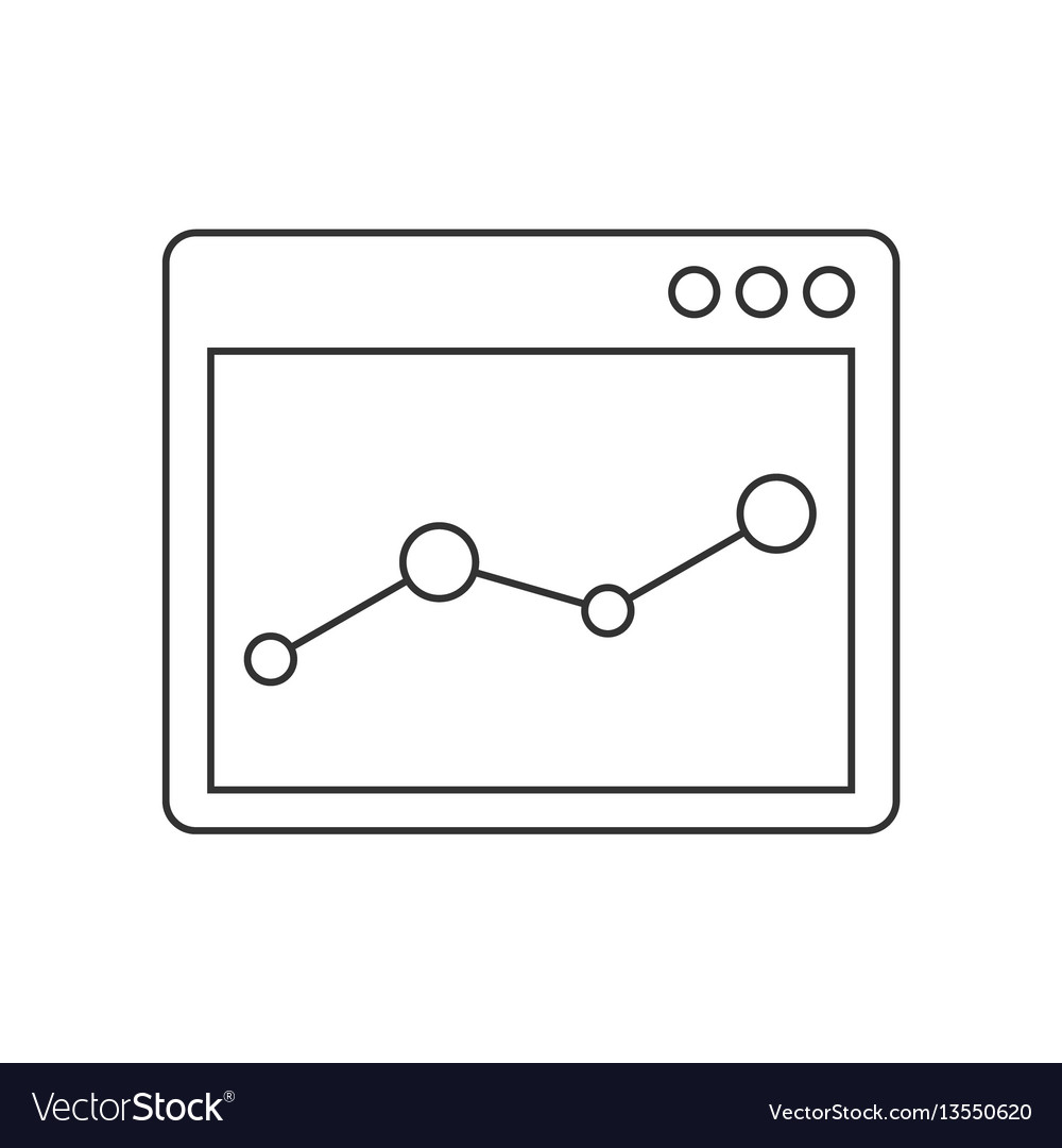 Browser window with chart line icon