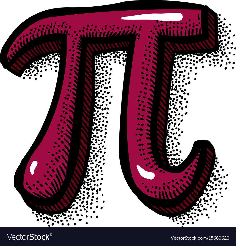 Cartoon Image Of Pi Symbol Royalty Free Vector Image