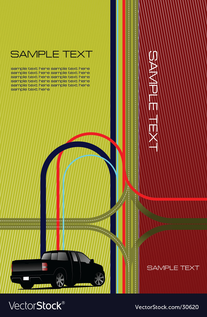 Cover with junction and car vector image