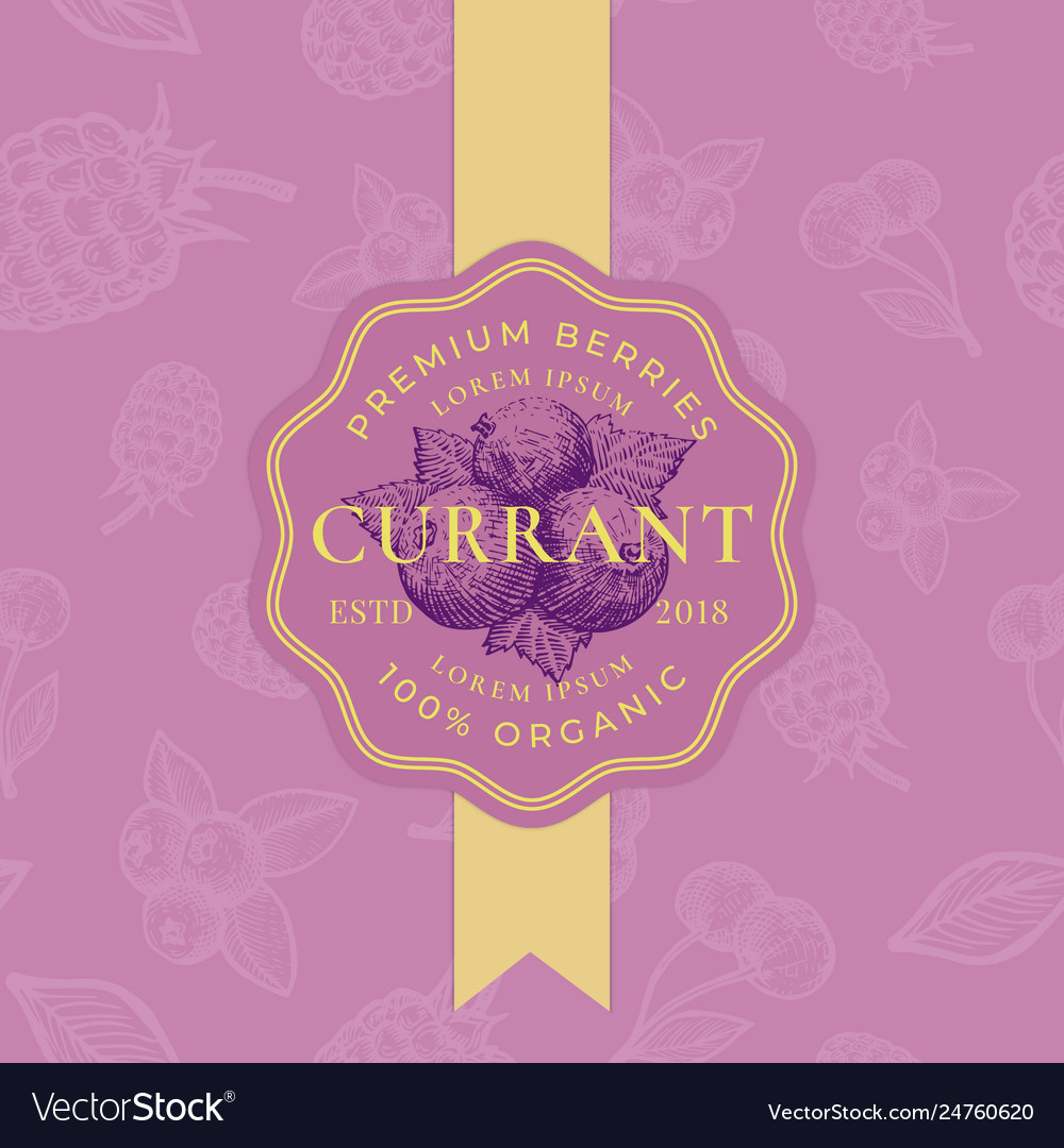 Currant abstract sign badge or logo