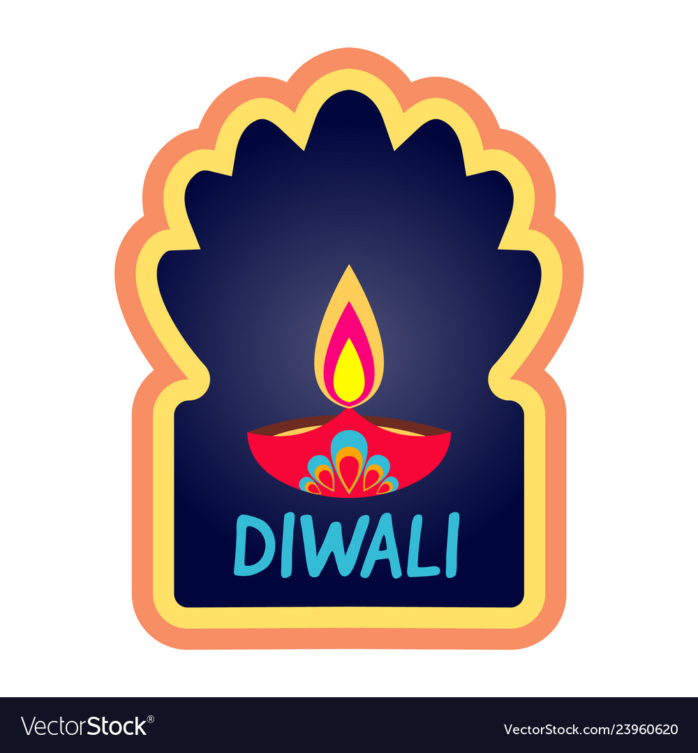 Diwali simple holiday web banner isolated