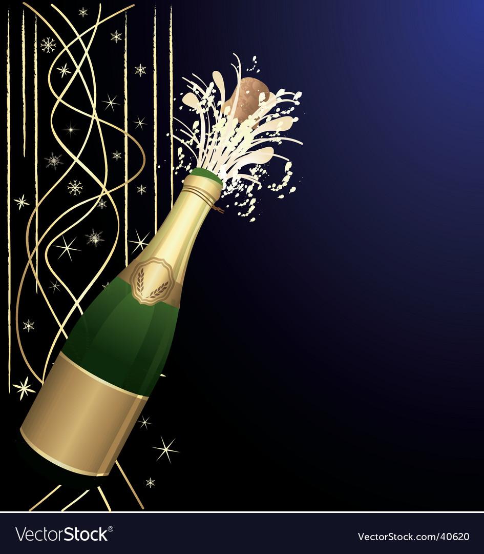 Festive open champagne vector image
