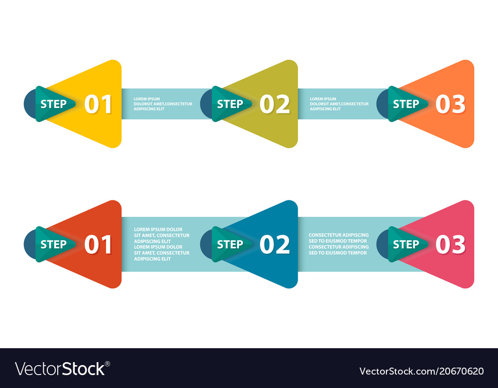 Infographic arrows with 3