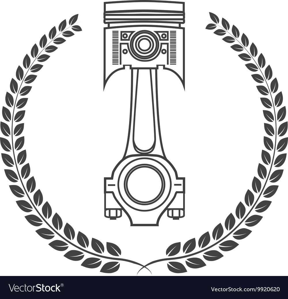 Iron car piston in the form of awards