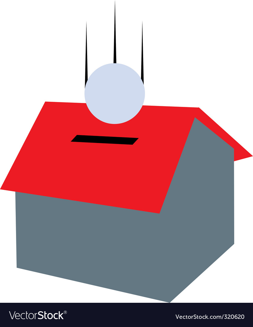Money house vector image