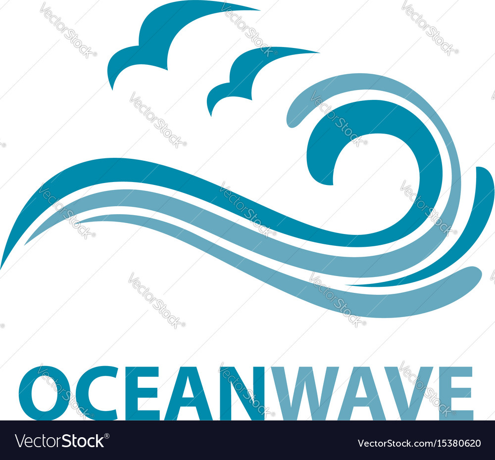 ocean wave logo royalty free vector image vectorstock rh vectorstock com waves free vector download waves free vector download