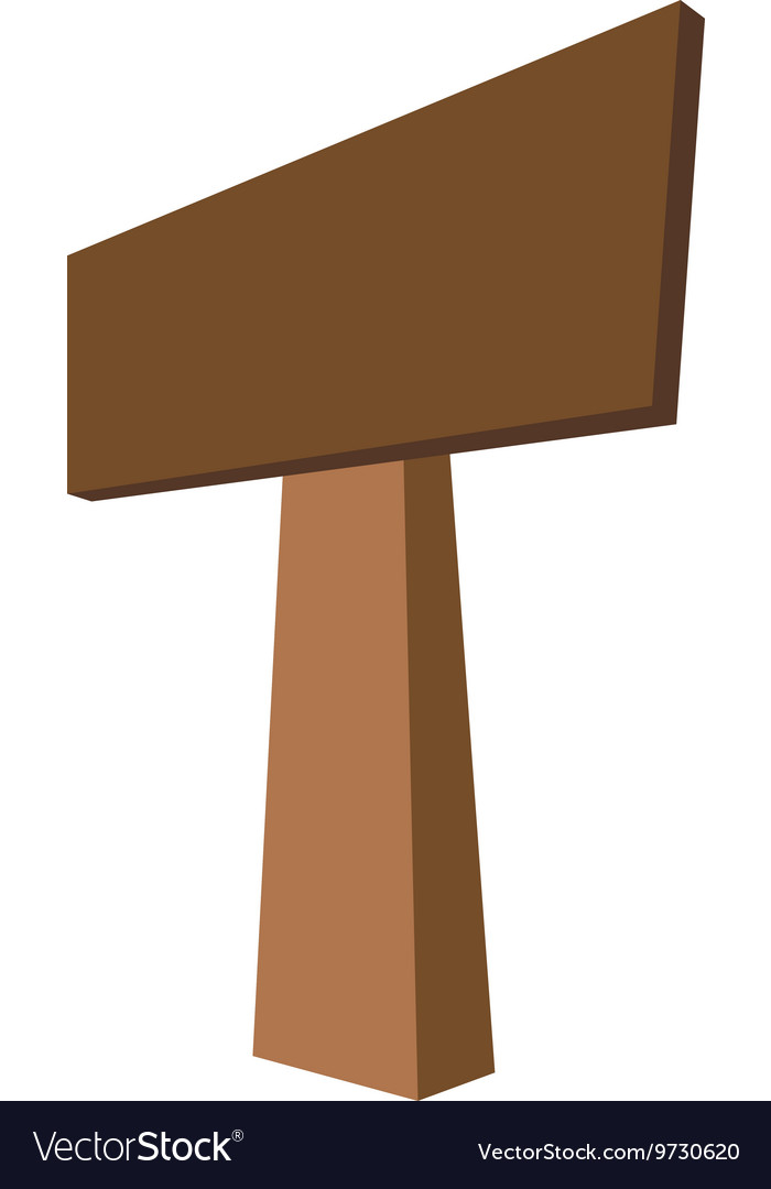 Road sign of wood icon Direction design